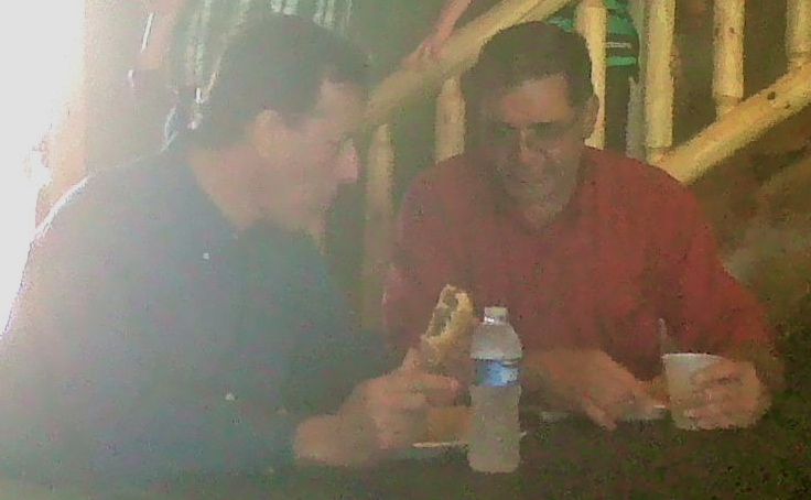 Boender and Santorum enjoy lunch