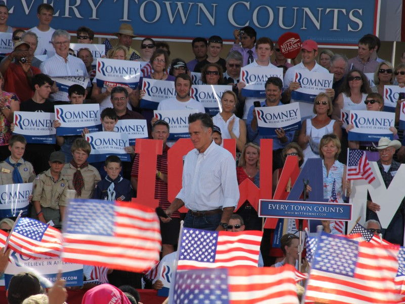 Former Mass. Gov. Mitt Romney in Davenport, Iowa