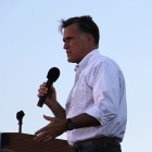 Mitt Romney in Davenport, Iowa this past Monday. Photo by Guannan Huang.