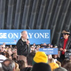 Sen. Chuck Grassley, R-Iowa, at a Romney rally in Dubuque. (Photo by Emily Hoerner)