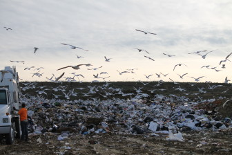 The Iowa City Landfill and Recycling Center, which serves Johnson County, Kalona and Riverside, receives about 450 tons of refuse daily. (IowaWatch/Sujin Kim)