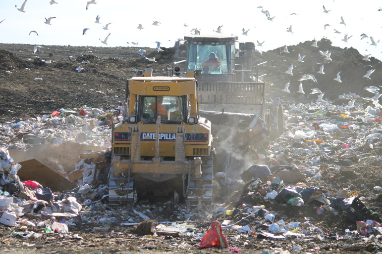 The Scott Area Landfill, located near Davenport, is seen in this fall 2012 photo.
