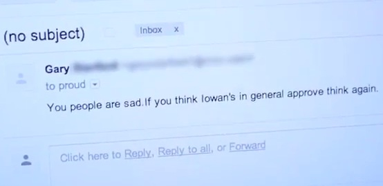 An email to UNI Proud, a lesbian, gay, bisexual, transgender group at the University of Northern Iowa, after transgender student Steven Sanchez was named the University of Northern Iowa's 2013 Homecoming queen.