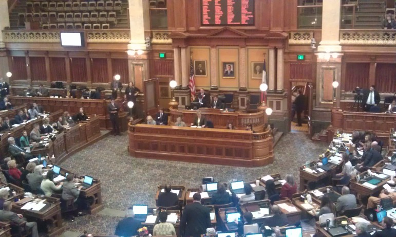 Opening session at the Iowa House of Represenetatives, Jan. 13, 2014.