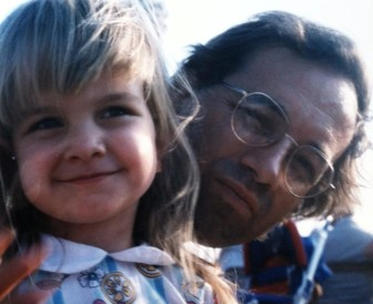 Emily Funk as a child with her father, Ruben Funk, of Davenport. Ruben Funk died in Emily's senior year of high school but left money for her to attend Iowa State University debt free.