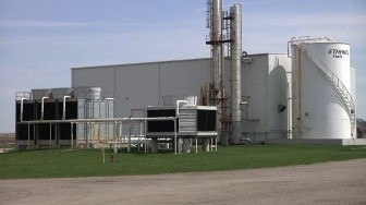The corn ethanol plant that Fiberight is retrofitting to make trashanol just outside of Blairstown, Iowa.