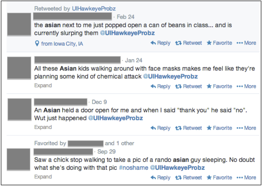 Screenshot of tweets on UIHawkeyeProbz, taken March 3, 2014.