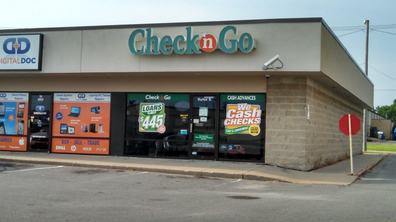 A Check N Go storefront on Collins Road in Cedar Rapids is pictured on August 8.