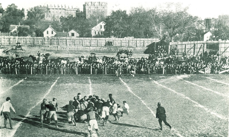 University of Iowa Football Game, 1900. Frederick W. Kent Collection, University of Iowa Library and Archives.