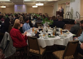 The Community Foundation of Johnson County distributed 52 grants worth $1.4 million to non-profit organizations in Johnson County, Iowa, at a luncheon on Dec. 4, 2014, in Iowa City. The Iowa Center for Public Affairs Journalism-IowaWatch received a $1,500 grant at this event.
