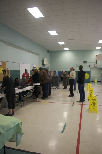 Voters at Horace Mann Elementary School on Election Day, Nov. 4, 2014.
