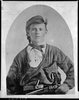 Jesse James photographed circa 1882 from the Library of Congress Prints and Photographs Division.