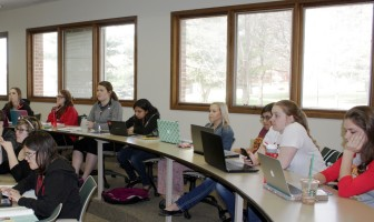 Simpson College classroom in April 2015.