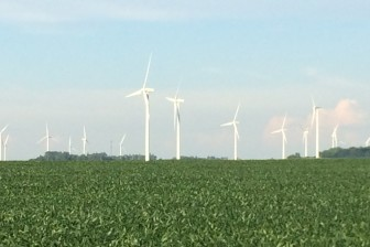 Wind turbines near Joice, in northern Iowa, produce a non-fossil fuel. Photo taken June 26, 2015.