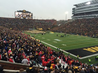 The University of Iowa provides multiple opportunities for entertainment, including Big Ten sports. Kinnick Stadium in fall 2014.