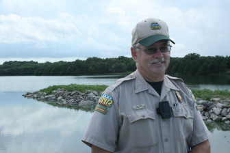 Green Valley State Park gets an algae bloom about once a year, said Park Ranger Alan Carr, pictured on July 31, 2015. But Carr was hopeful restoration efforts on the lake and surrounding watershed could lead to better water quality.