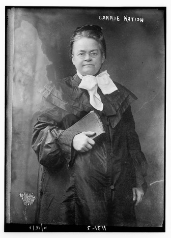 Photo of Carrie Nation from an unknown date.