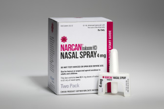 A naloxone nasal spray produced by Adapt Pharma was approved by the FDA in November. Previously only injectable forms had been approved.