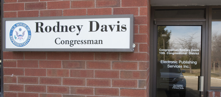 The office of Congressman Rodney Davis in Champaign on Friday, January 29, 2016.