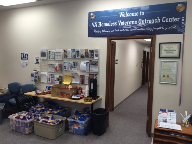 The lobby at the Veterans Administration Homeless Outreach Center facility in Rock Island, Illinois, on June 9, 2016, before the facility moved to another location.