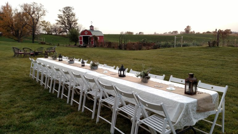 The table is set for the 2015 fundraiser event at the Walker Homestead.
