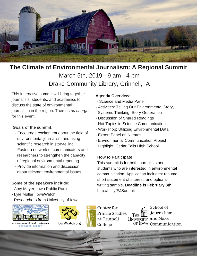 Journalists, Students Interested In Environmental